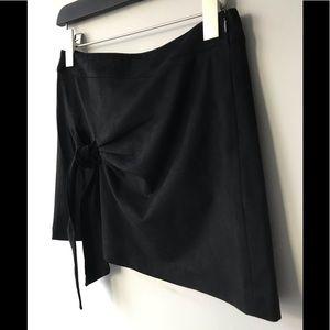 Zara Skirts - Zara TRF Black Suede Knot Skirt 💞